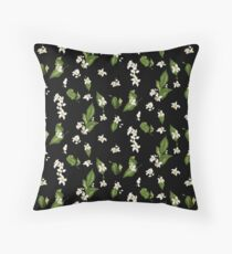 Pattern of citrus tree flowers with spring aroma mood Floor Pillow
