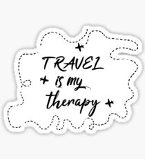 Trevel is my therapy  Sticker