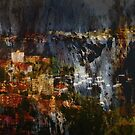 An Urban Scene on Bark by Zern Liew