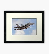 F/A-18 Hornet, performing flyby Framed Print