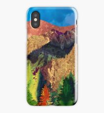 Abstract Mountain Landscape  and forest Digital Art iPhone Case