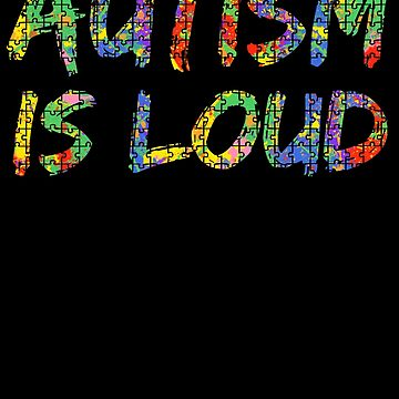 Autism is Loud Paint Puzzle Support Autism Awareness by TNDesignStudio