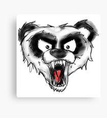Angry Panda  Canvas Print