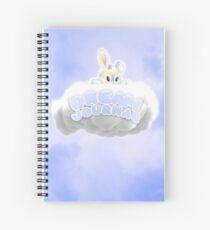 Baby Bunny Pastel Blue Dream Journal Spiral Notebook