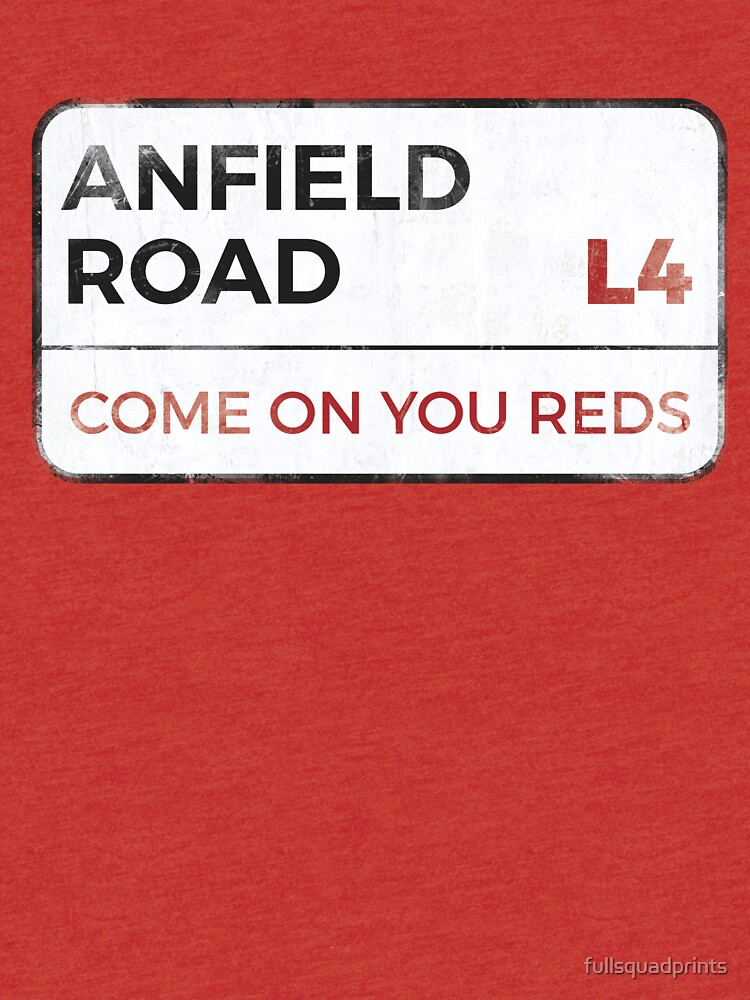 "Liverpool ""Come on you reds"" street sign - Liverpool wall art - Liverpool posters - Liverpool accessories by fullsquadprints"