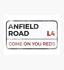 """Liverpool """"Come on you reds"""" street sign - Liverpool wall art - Liverpool posters - Liverpool accessories Photographic Print"""