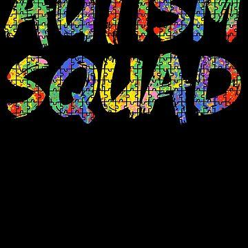 Autism Squad Autism Awareness Paint Puzzle by TNDesignStudio