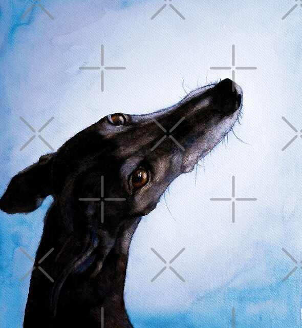 Greyhound - Galgo Español - Always there by Tanja Kooymans