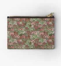 Hand Drawn Village Pattern Studio Pouch