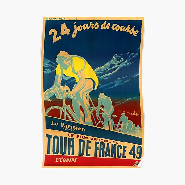 French Vintage Tour De France Poster