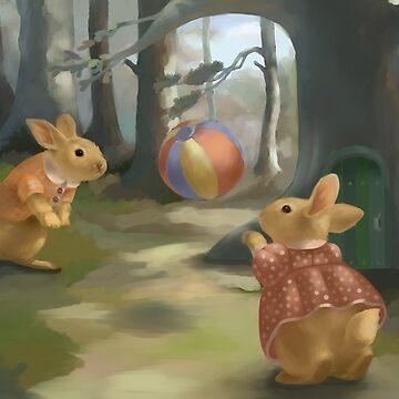 Rabbits  by Elenanaylor