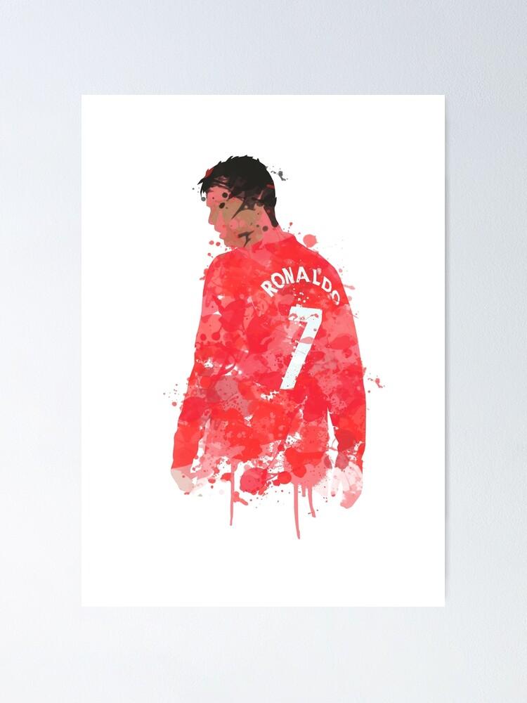 Cristiano Ronaldo Manchester United Legend Art Poster By Footballarcade Redbubble