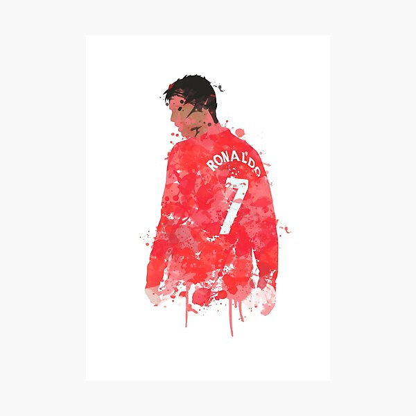 Cristiano Ronaldo - Manchester United Legend Art Photographic Print