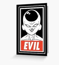Evil perfect Greeting Card
