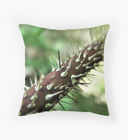 Ouch! That's A Lot Of Thorns! Throw Pillow