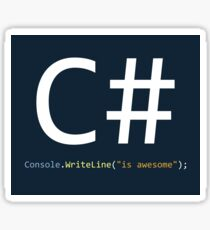 C# is awesome - Computer Programming Sticker
