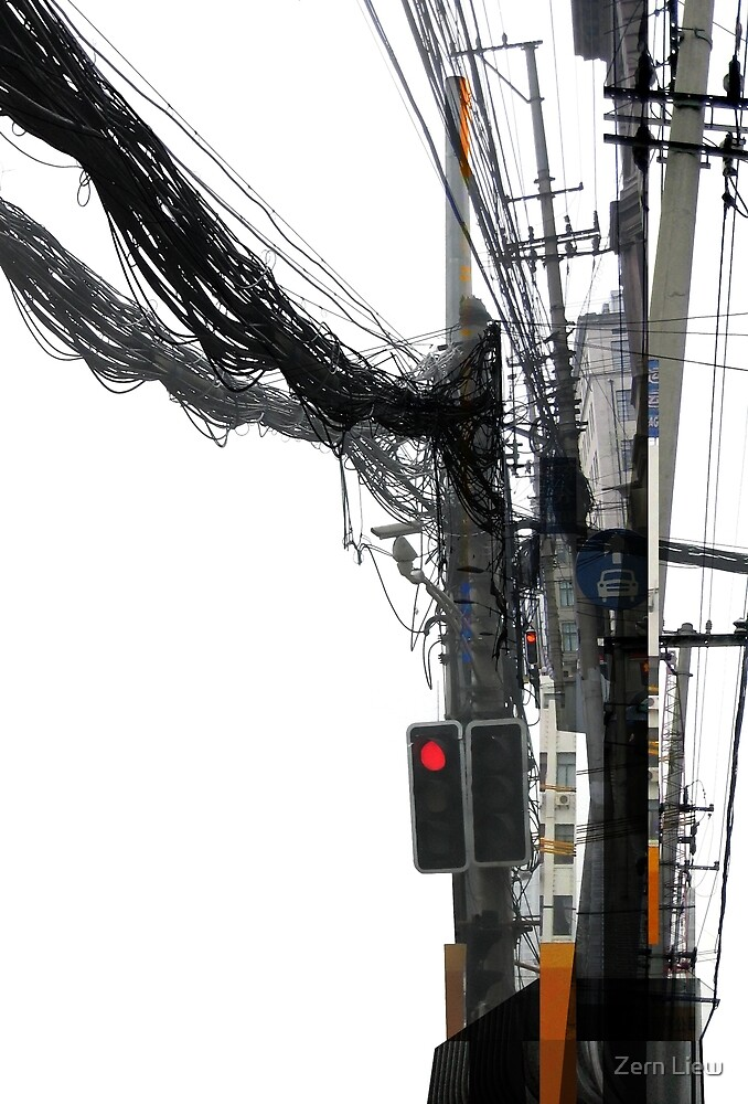 Power Poles of Shanghai by Zern Liew