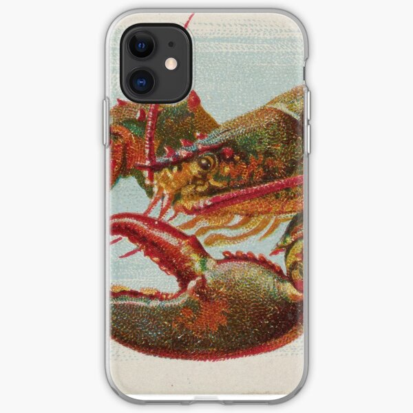 Vintage Illustration of a Lobster (1889) iPhone Soft Case