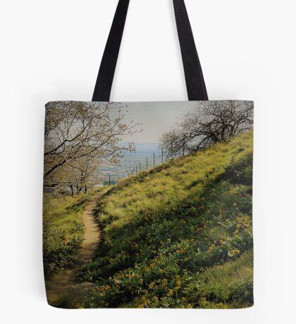 Path Through Yellow Daisies Tote Bag