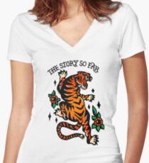 Thx Stxry Sx Fxr Women's Fitted V-Neck T-Shirt