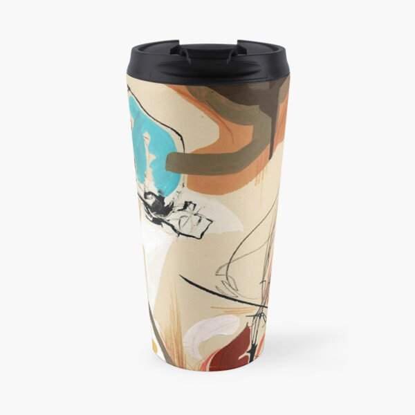 Cello and Guitar Player Musicians Painting Drawing Travel Mug