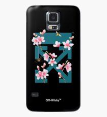 Off-White Cherry Blossom Arrows (Dark Teal) Case/Skin for Samsung Galaxy