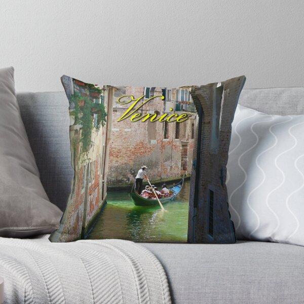 Stunning! Gondola on Venice Canal - Professional Photo Throw Pillow