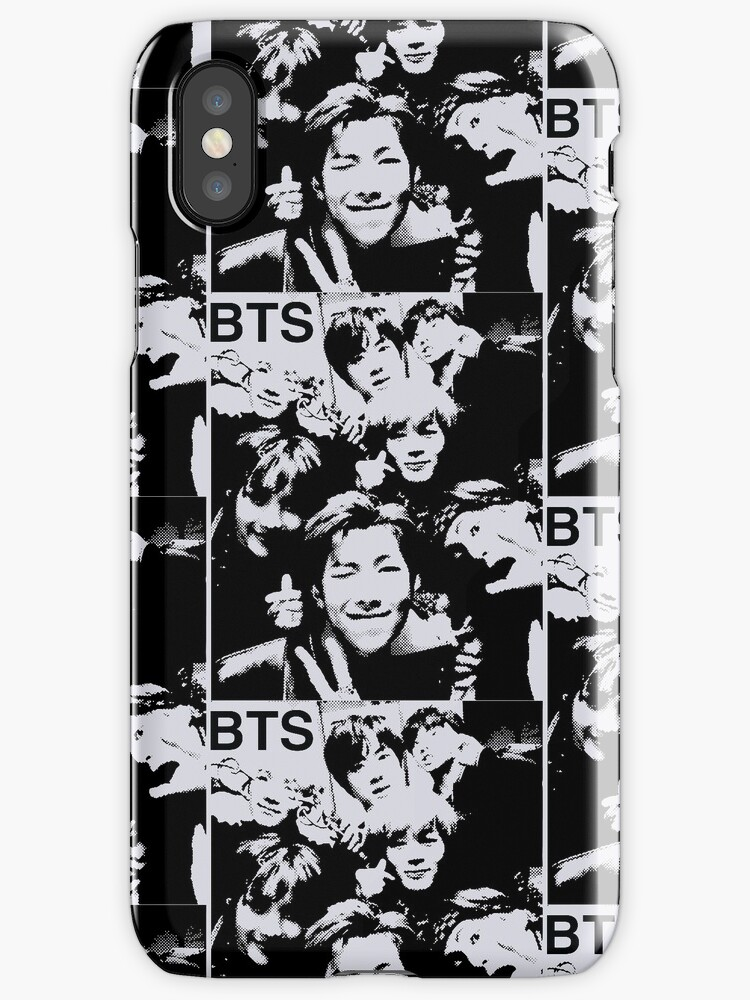 BTS wacky group photo halftone design by shopnojams