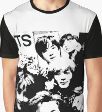 BTS wacky group photo halftone design Graphic T-Shirt