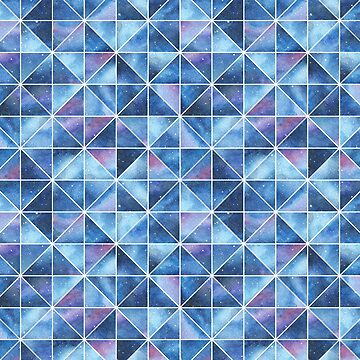 Geometric Watercolour Galaxy Squares and Triangles by HazelFisher