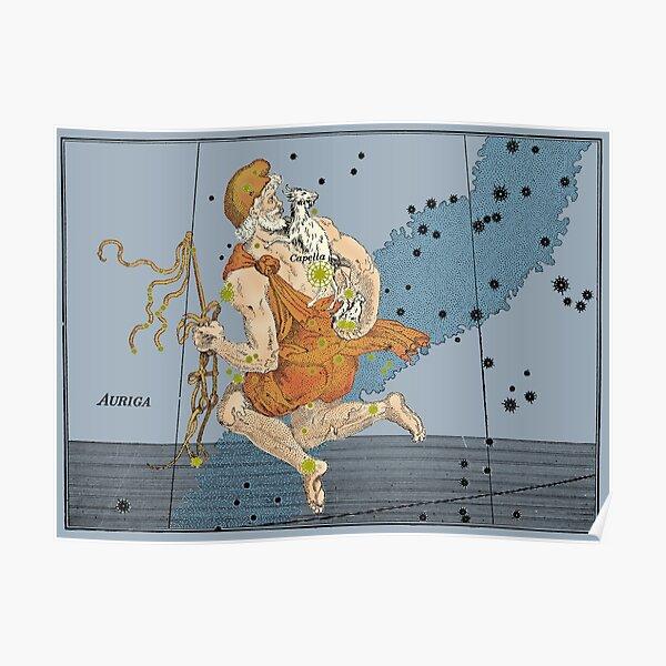 Auriga Constellation, 1603 Poster