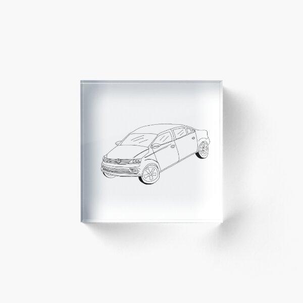 My Friends' Cars - VW Jetta Acrylic Block