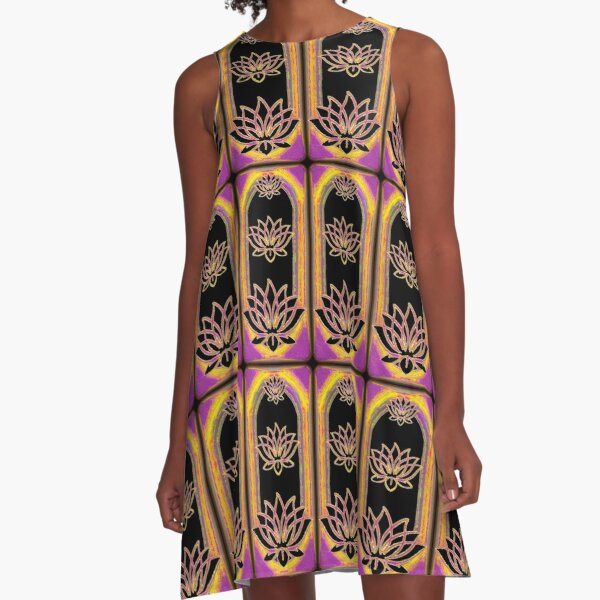 The Magical Lotus Emanation A-Line Dress