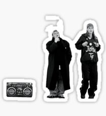 Jay and Silent Bob at the Quick Stop Sticker