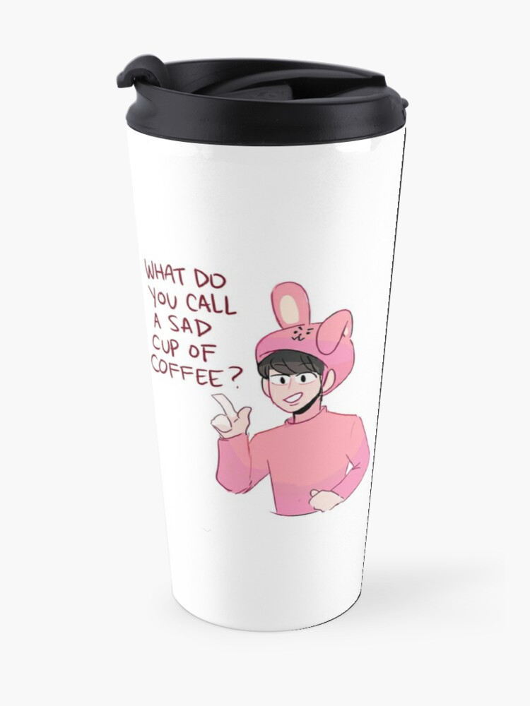 Alternate view of BTS: COFFEE DAD JOKES WITH JIN Travel Mug