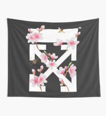 Off-White Cherry Blossom Arrows (Dark) Wall Tapestry
