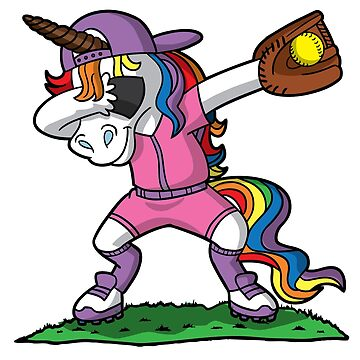 Dabbing Unicorn Dab Softball by frittata