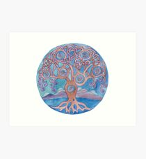 Mandala- tree of life Art Print