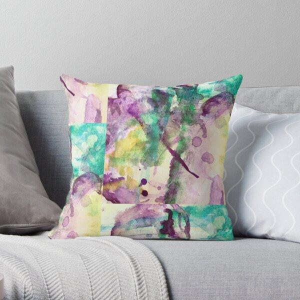 A little purple heart Throw Pillow