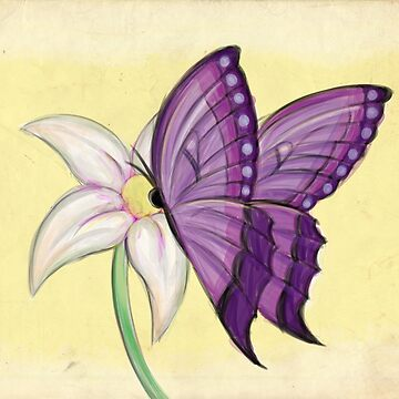 Purple Butterfly on Lily by RyanDenora