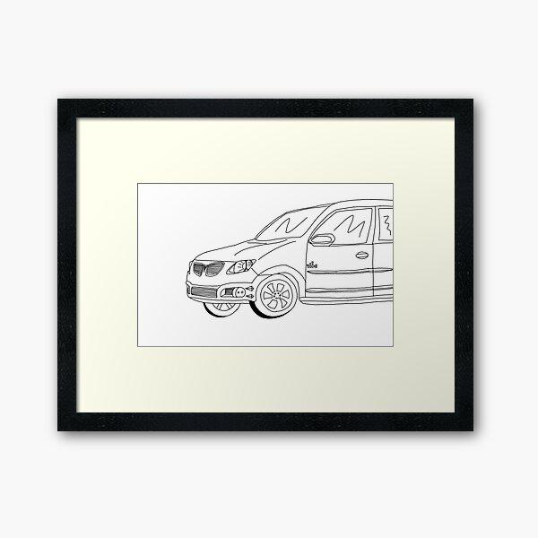 My Friends' Cars - Pontiac Vibe Framed Art Print