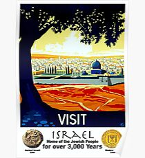 ISRAEL VINTAGE; Tourism Advertising Print Poster