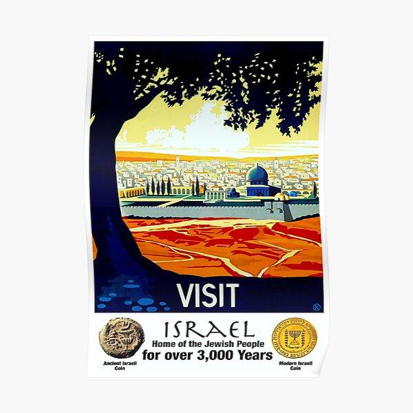ISRAEL VINTAGE; Tourism Advertising Print Poster