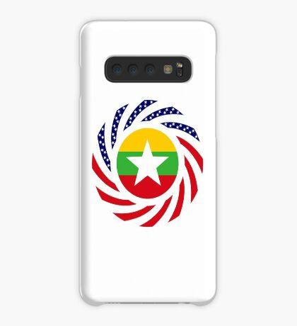 Myanmar American Multinational Patriot Flag Series Case/Skin for Samsung Galaxy