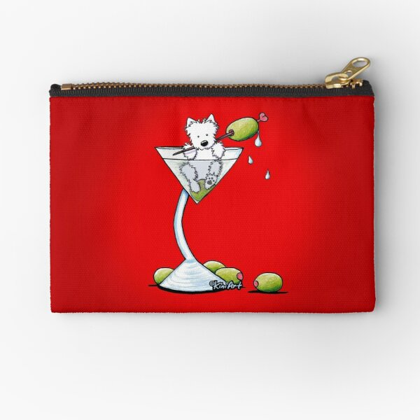 Olive Martini Westies Zipper Pouch