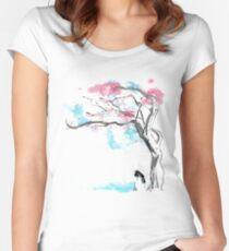 sakura delicious Women's Fitted Scoop T-Shirt