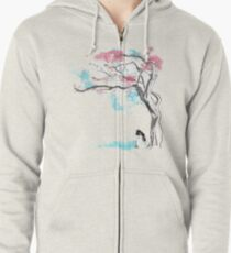 sakura delicious Zipped Hoodie