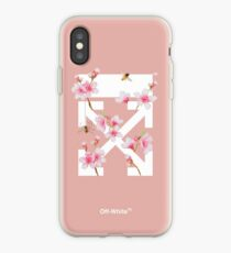 Off-White Cherry Blossom Arrows (Pastel Rose Pink) iPhone Case