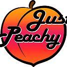 Peachy Just Peachy Peach Laptop Fruit Georgia Florida Water Bottle by MyHandmadeSigns