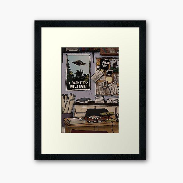 Mulder's Office Framed Art Print